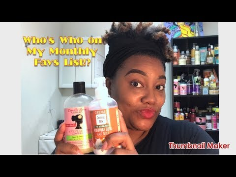 Who's who on My Monthly Favs List!?| My Highly Recommendation Natural Hair Products