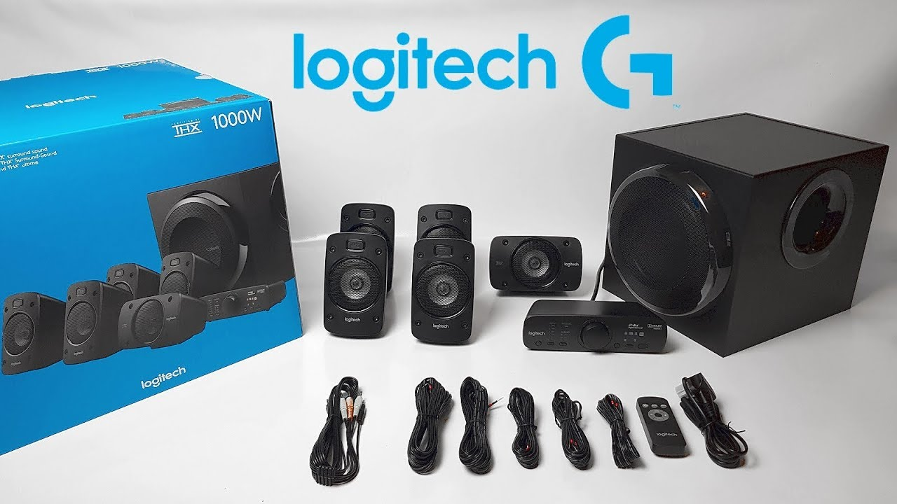 Logitech Z8 8.8 Surround Sound Speaker System Unboxing