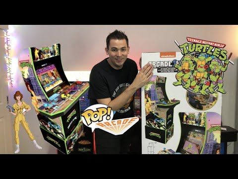 AU Arcade 1Up Teenage Mutant Ninja Turtles Full Unboxing & Build + Light-up Marquee Installation🇦🇺 from The POP! Arcade