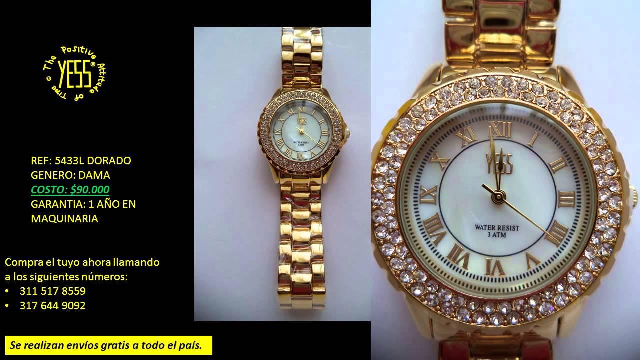 Catalogo relojes yess para dama a la venta colombia - Reloj adhesivo de pared ...