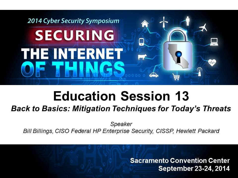 2014 Cyber Security Session 13 - Back to Basics: Mitigation Techniques