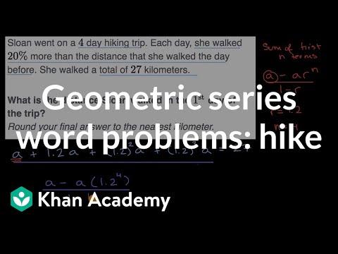 Geometric series word problem example