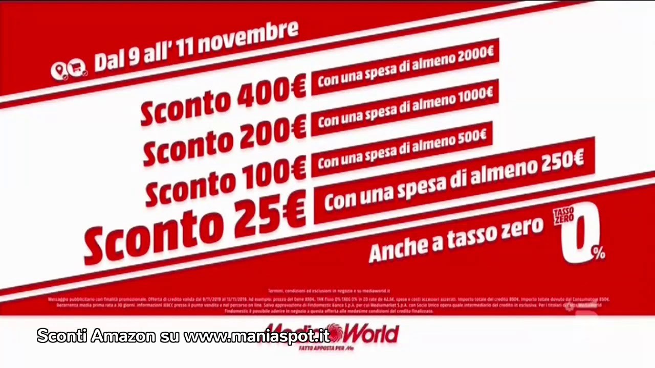Media World sconto Wow pubblicità spot 2019 - YouTube