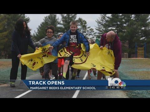 Track opens at Margaret Beeks Elementary School