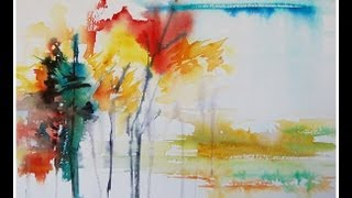 Paint An Abstract Landscape In Watercolor!