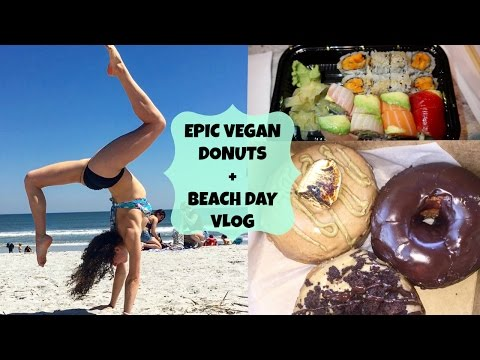 "A Day in the Life // Vacation Vlog // EPIC VEGAN DONUTS + How I Deal with ""CHEAT MEALS"""