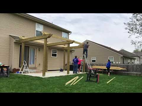 DIY build a 10'x20' Pergola Over Patio (7min) Less than $1,000
