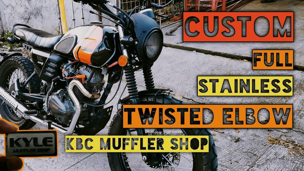 Keeway Cafe Racer 152   Twisted Elbow   Snake Header   KBC MUFFLER SHOP