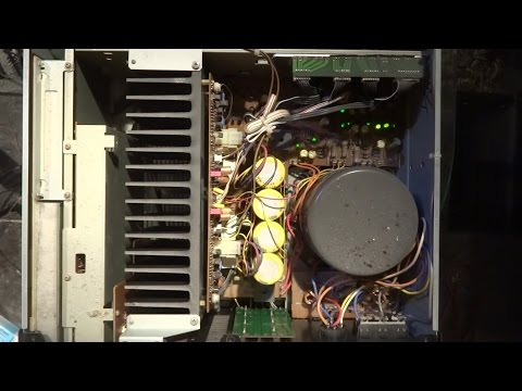 Akai am-93 cleaning - the best amplifier I ever had - incredible sound.