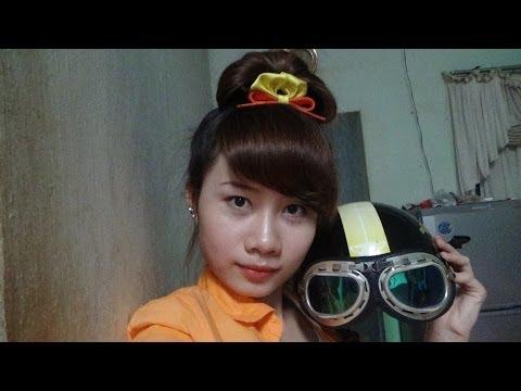 Hairstyles - Mẫu Tóc Búi Đẹp Mà Vẫn Đội Được Nón Bảo Hiểm