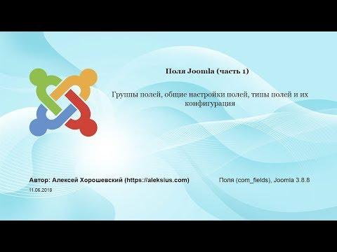 Поля Joomla (часть 1). Группы и типы полей