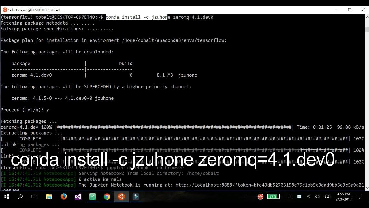 [SOLVED] Kernel has died problem of Jupyter notebook in Windows 10