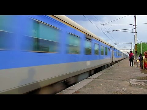 """""""ABSOLUTE BEAUTY"""" Lucknow Shatabdi blisters at 130 Km/Hr under mystic weather..!!"""