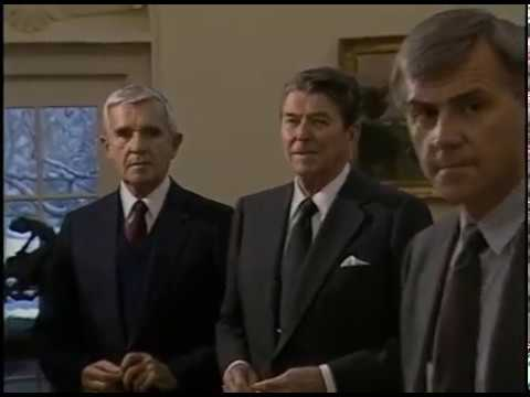 President Reagan's Photo Ops. in the Oval Office and Cabinet Room on February 27-28, 1986