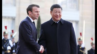 President Xi Jinping attends welcome ceremony in Paris| CCTV English