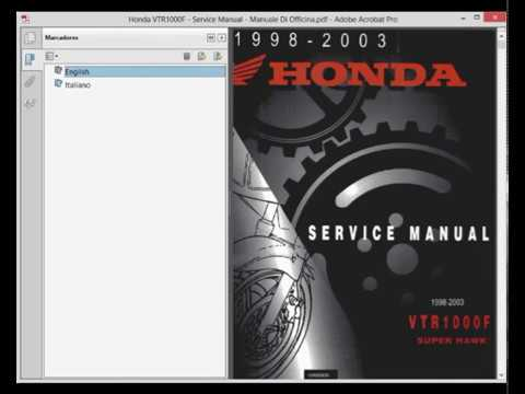 Honda VTR1000F - Service Manual - Manuale Di Officina