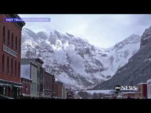 Helicopter Drops Bombs Triggering Avalanche in Colorado | ABC News