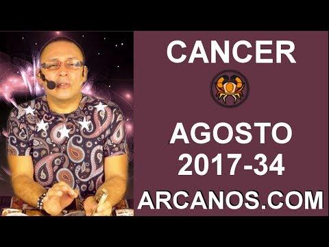 CANCER AGOSTO 2017-20 al 26 Ago 2017-Amor Solteros Parejas Dinero Trabajo-ARCANOS.COM