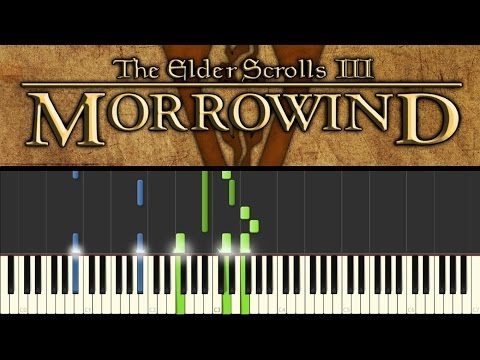 Morrowind (Piano Tutorial - Synthesia) - Call of Magic/Nerevar Rising: Main theme (+ sheets)