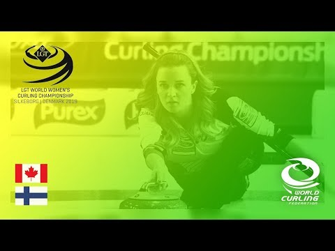 Canada v Finland - round robin - LGT World Women's Curling Championships 2019