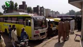 Badami Bagh - Lari Adda Bus Stop - Lahore, Pakistan (4K Ultra HD)