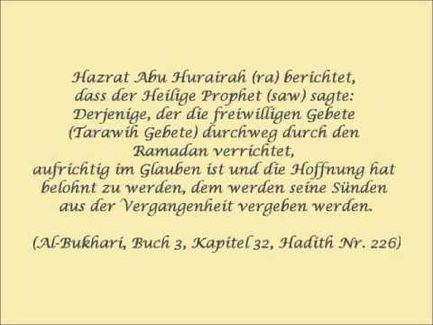 "Islam-Ahmadiyya ""Hadith zum Fastenmonat Ramadan"" - YouTube"