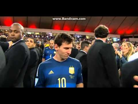 Germany vs Argentina 1-0 World Cup Final 2014 Award Medal Trophy Ceremony