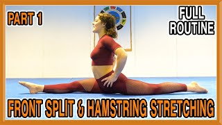 Front Split & Hamstring Stretching (Part 1) | Follow Along Yoga Routine