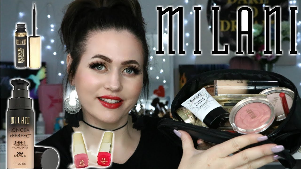 FULL FACE USING MILANI MAKEUP | chit chat tutorial | DANNI SHERIDAN