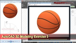 AutoCAD 3D Modeling Basketball Tutorial | Exercise 3