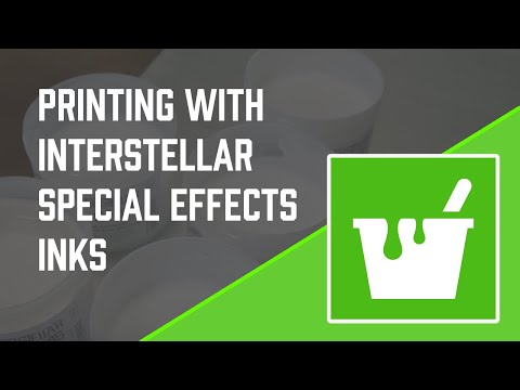 Screen Printing with Interstellar Special Effects Inks from Green Galaxy