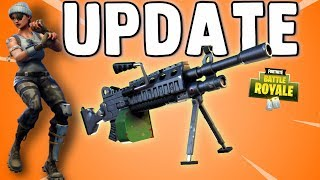 FORTNITE NEW UPDATE - Sniper Buff - New LMG - 50 vs 50 v2 & MORE - Fortnite Update 3.5 Patch Notes