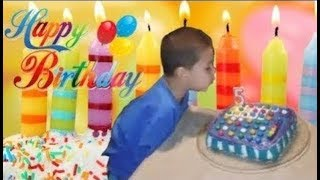 Candy Crush Saga Birthday Cake  Noah Blows Out Candles