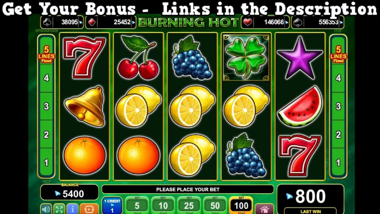 Burning Hot Slot Machine Play 3500 Online Slot Machines Completely Free Youtube