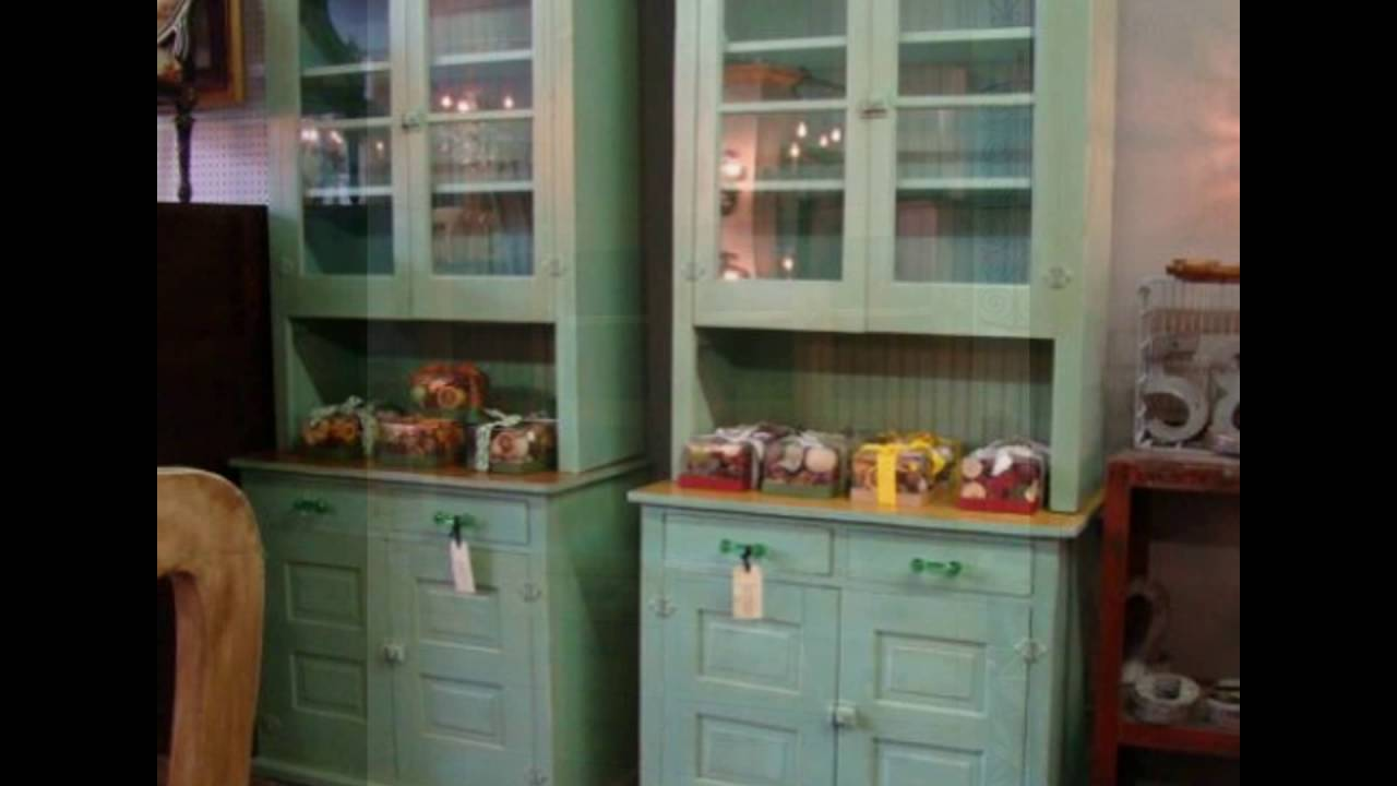 Antique Kitchen Pantry Cabinet Youtube