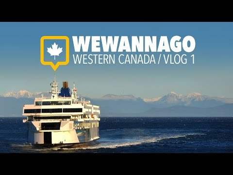 Travel to Vancouver Island by Ferry // British Columbia Canada // WEWANNAGO VLOG 1