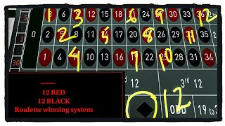 STEVE PACKER 12 RED/12 BLACK Roulette System