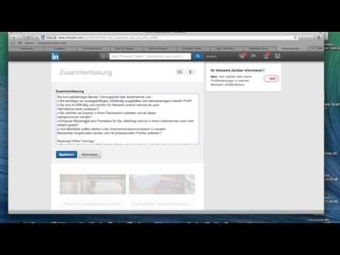 Linkedin Profil Die Zusammenfassung Erstellen Youtube