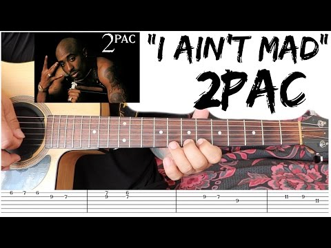 I Ain't Mad At Cha - 2Pac 🎸GUITAR TUTORIAL🎸