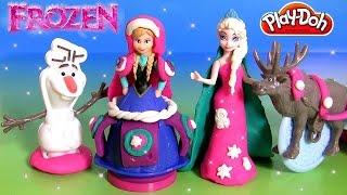 Play Doh Sled Adventure Anna Olaf Elsa Magiclip пластилин - PlayDoh Brillante Trineo de Aventuras