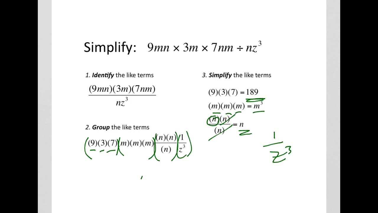 How to simplify algebraic expressions Multiplication and – Multiplication and Division of Algebraic Fractions Worksheet