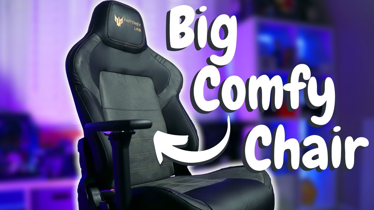 Best Gaming Chair for BIG, TALL And Yes LARGE People - Fantasylab 8247