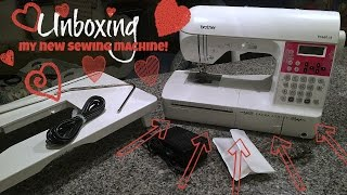 Unboxing My **NEW** Sewing Machine! Brother PC660LA! & A Giveaway!