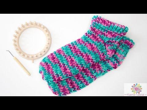 Youtube-Tutorial: Kntting Loom: Slipper Socken für Anfänger SCHNELL | EINFACH| ANFÄNGER