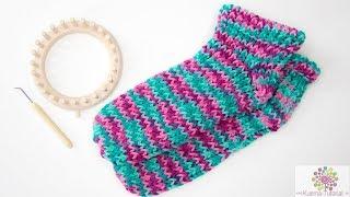Kntting Loom: Slipper Socken für Anfänger SCHNELL | EINFACH| ANFÄNGER