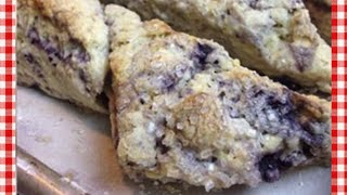 Lemon Blueberry Scones ~ Collab W The Frugal Chef!