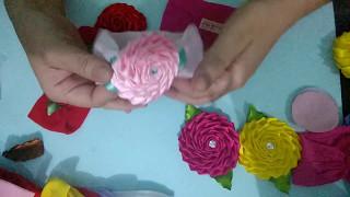 Acabamento perfeito na meia de seda – Aplicando rosas na meia de seda