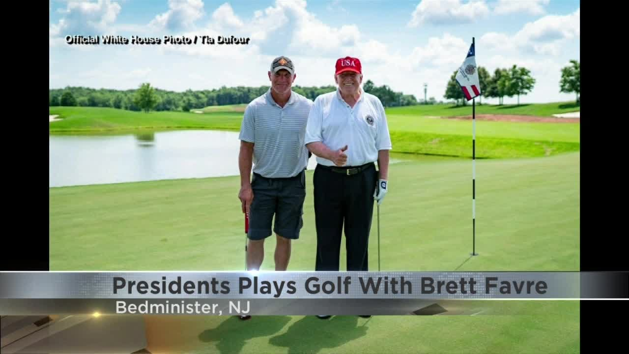 President Trump and Brett Favre golf together over weekend