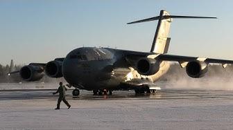 4K | RARE 2x USAF C-17 Globemasters Depart from Tampere-Pirkkala | HX Challenge