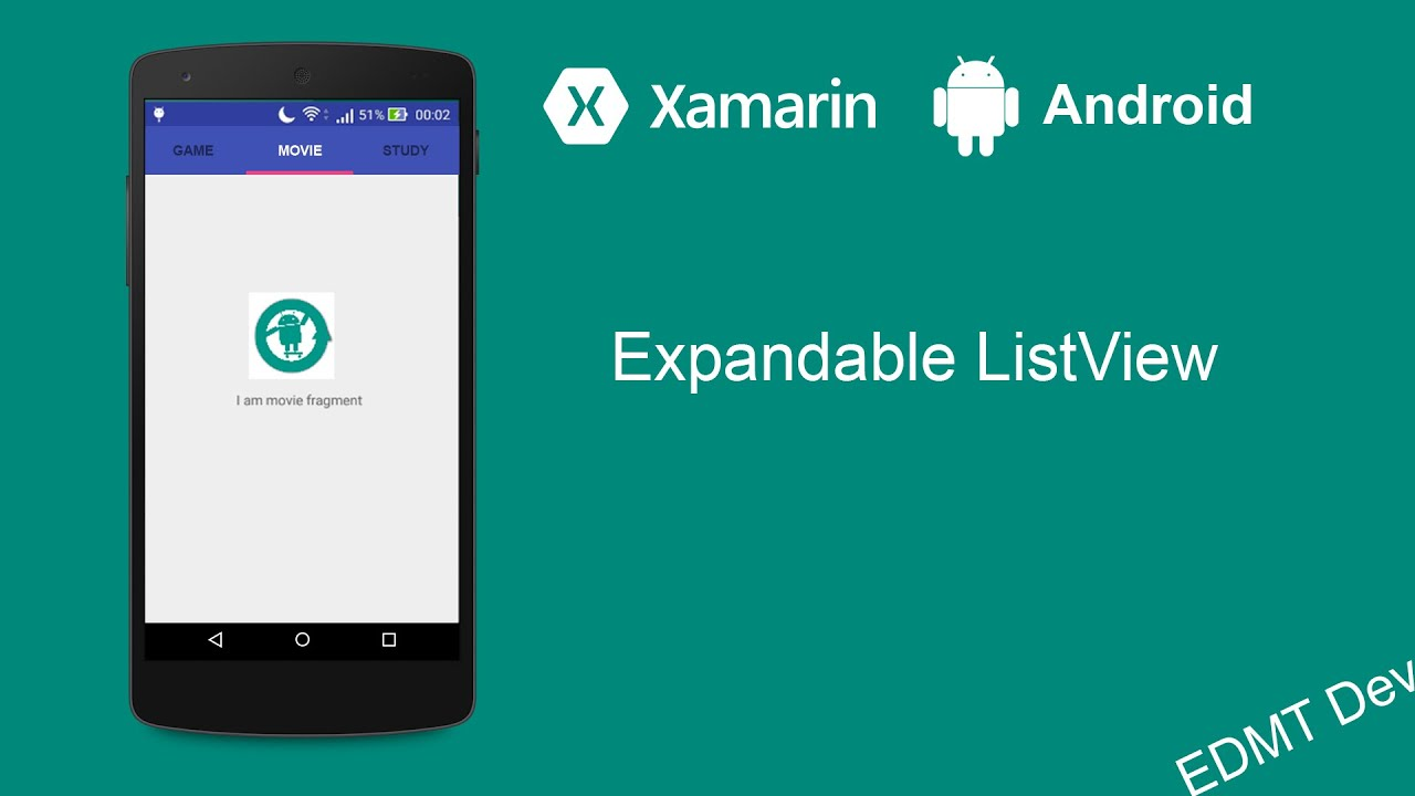 Xamarin Android Tutorial - Expandable ListView